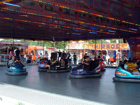 Dodgems at Newcastle town moor fair